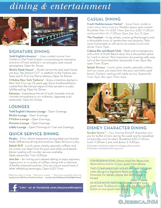 Dining at the Walt Disney World Dolphin