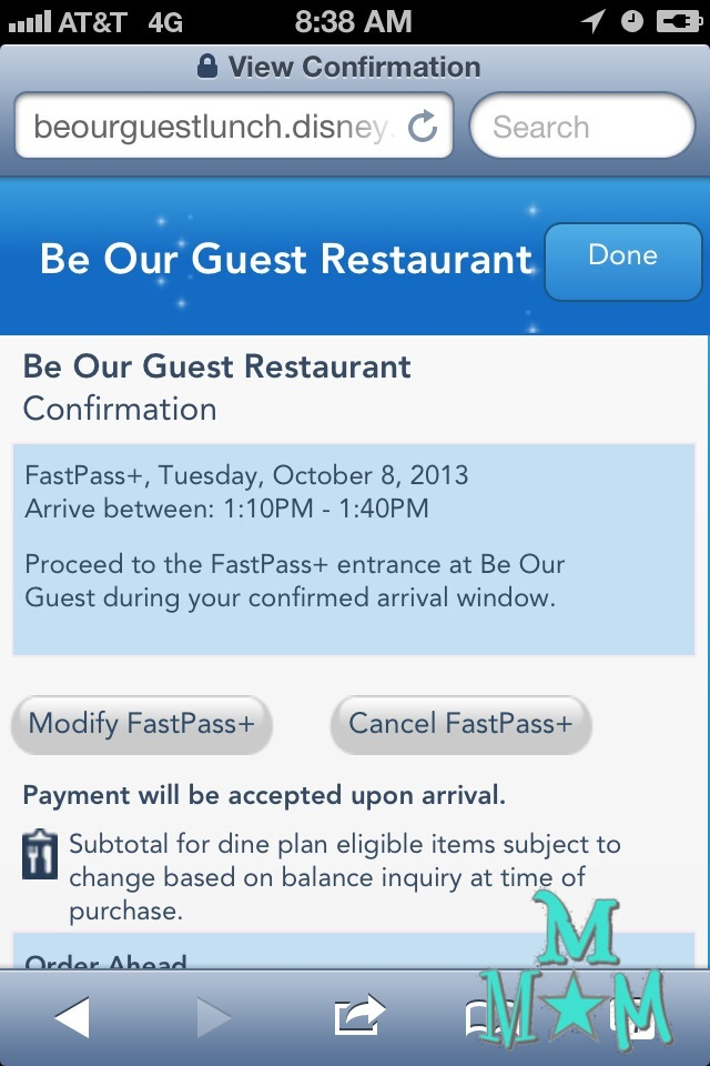 Be Our Guest FastPass+