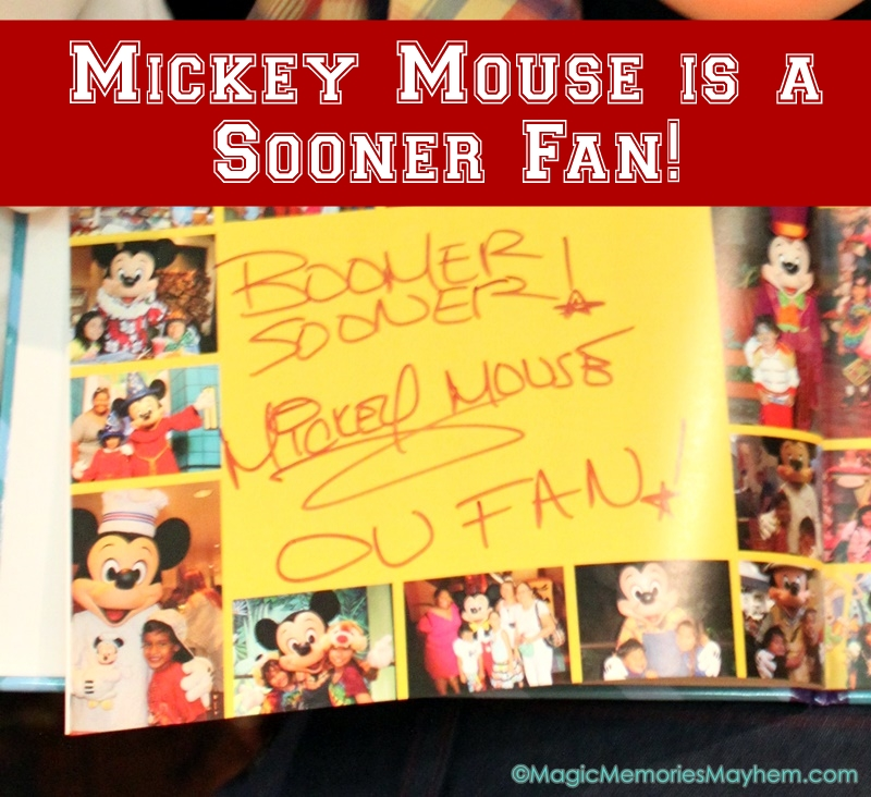 Mickey Mouse loves the Sooners!