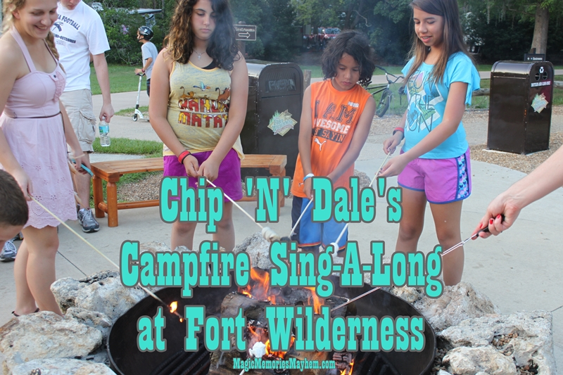 Chip 'N' Dale's Campfire Sing-A-Long at Disney's Fort Wilderness Campground