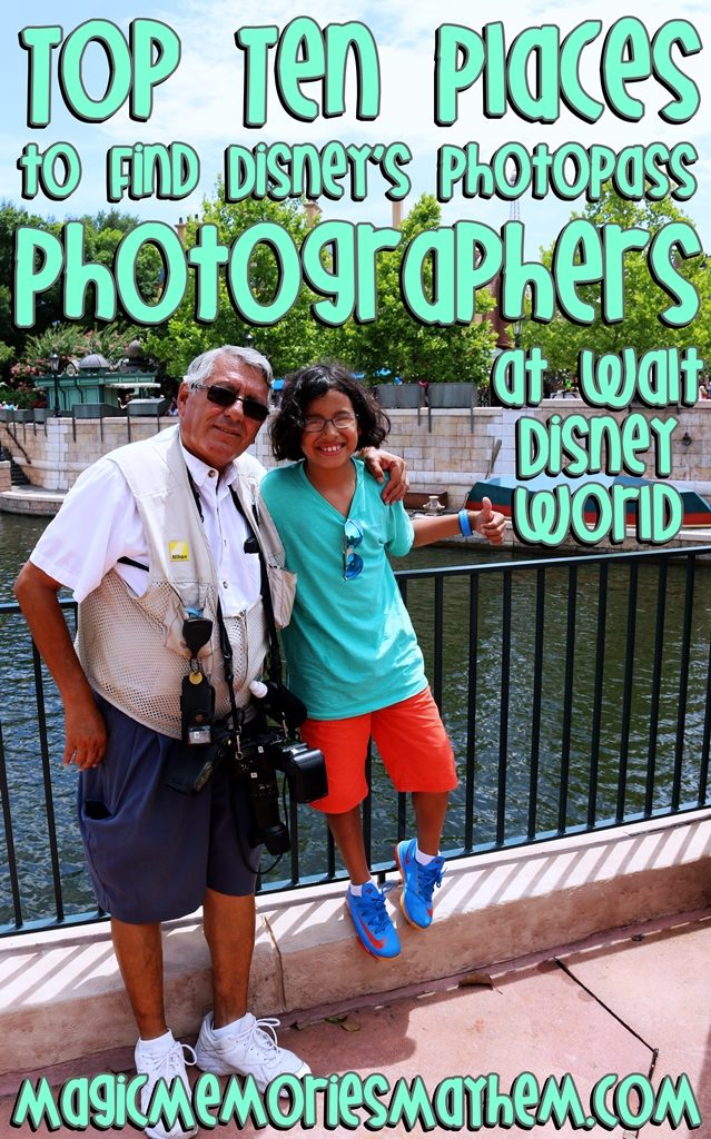 Top Ten Places to Find PhotoPass Photographers at Walt Disney World
