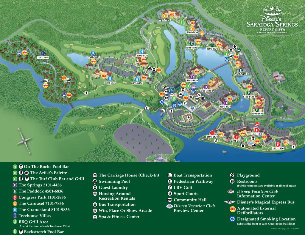 Disney's Saratoga Springs Resort and Spa Map
