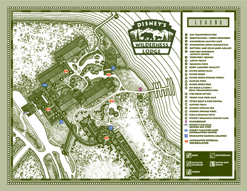 Disney's Wilderness Lodge Map