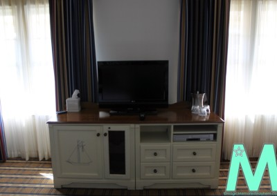 Entertainment Center & Fridge