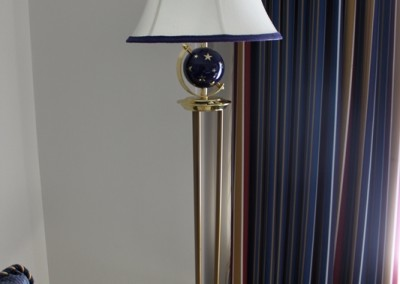 Side Table & Lamp